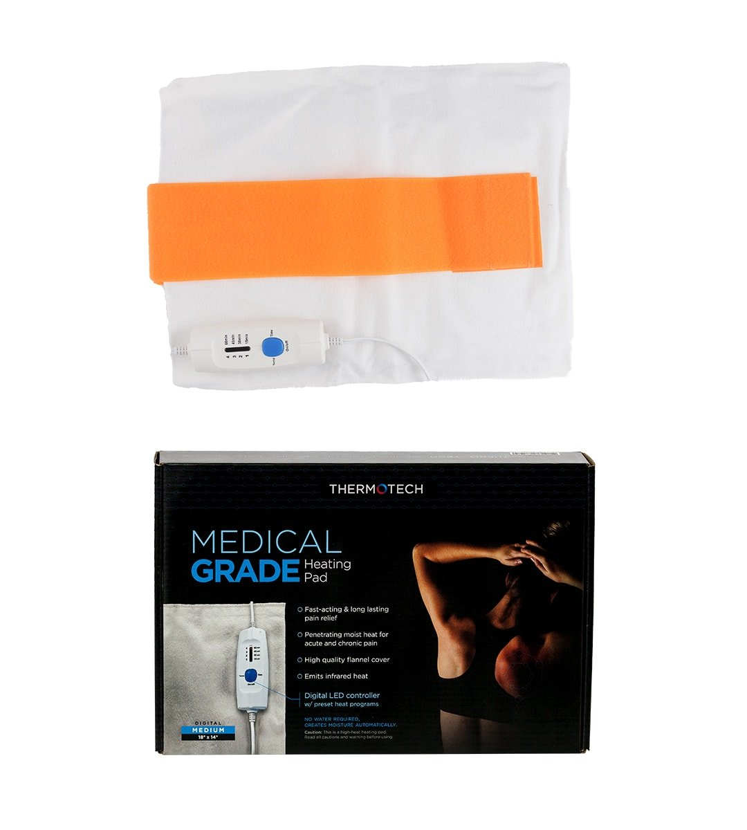 ThermoTech Medium Digital Moist Heating Pad with Infrared Technology (18''x14'')