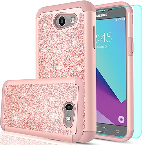 LeYi PC Silicone Glitter Case with HD Screen Protector for S