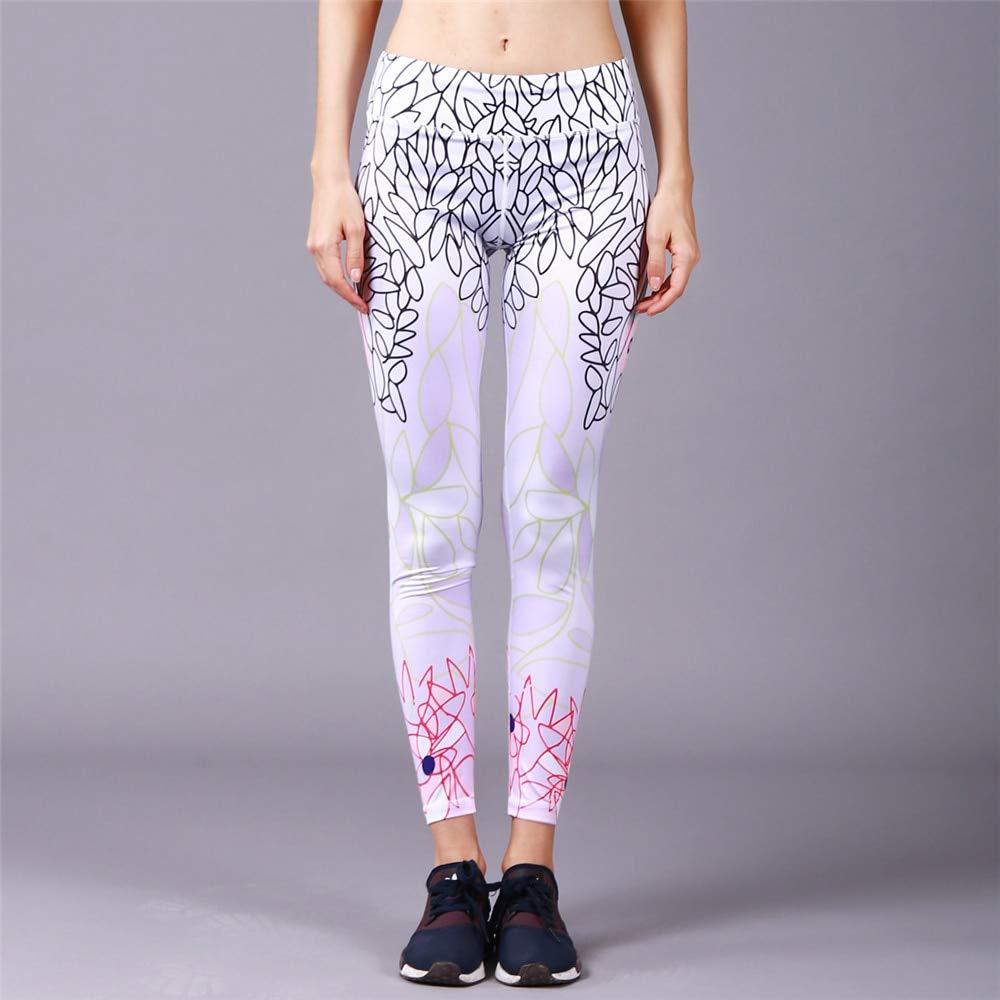 YUYOGAP Drucken Sie Yoga-Hosen-Frauen-Einzigartige Eignungs-Gamaschen-Trainings-Sport-Laufende Gamaschen-Reizvolle Drücken Turnhallen-Abnutzungs-Elastische Dünne Hosen Hoch