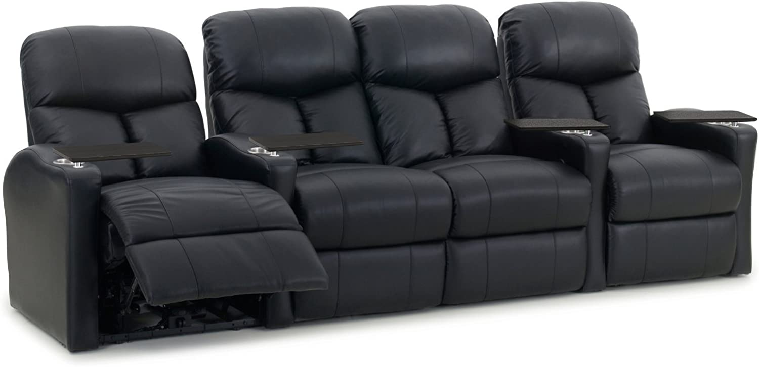 Octane Seating Octane Bolt XS400 Motorized Leather Home Theater Recliner Set (Row of 4): Furniture & Decor