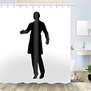 OiArt Shower Curtain, Polyester Fabric Waterproof Hooks Included-72x72 inches- Agreement Deal Arrangement Bargain Bond Commission