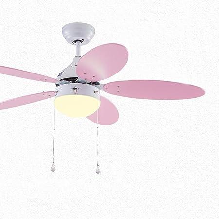 Luz del ventilador de techo FANJIANI for niños Mini Habitación de Estudiante Decoración Ventilador de Techo Salón Dormitorio Luz LED Luz de Ventilador de Silencio: Amazon.es: Hogar