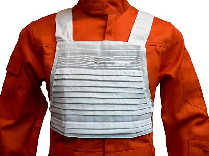 Star Wars X-Wing Rebel Fighter Pilot Jumpsuit+White Flak Vest COS Costume Orange