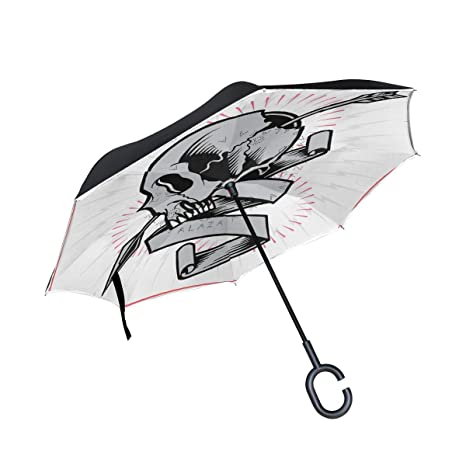 ISAOA Paraguas Grande Plegable de Doble Capa Resistente al Viento ...