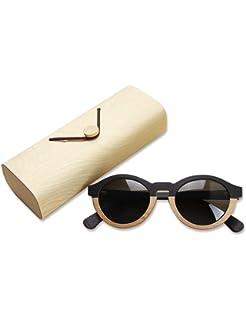 Gafas de sol polarizadas de madera para hombres y mujeres Bloqueo UV Gafas de sol ovaladas