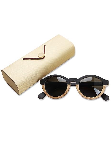 Royal Forest Gafas de sol polarizadas de madera para hombres y mujeres Bloqueo UV Gafas de