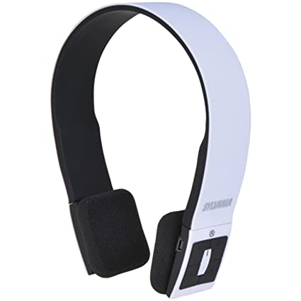 03c85053eec Amazon.com: Sylvania Wireless Bluetooth Stereo Over Ear Headphones with  Microphone - White: Home Audio & Theater