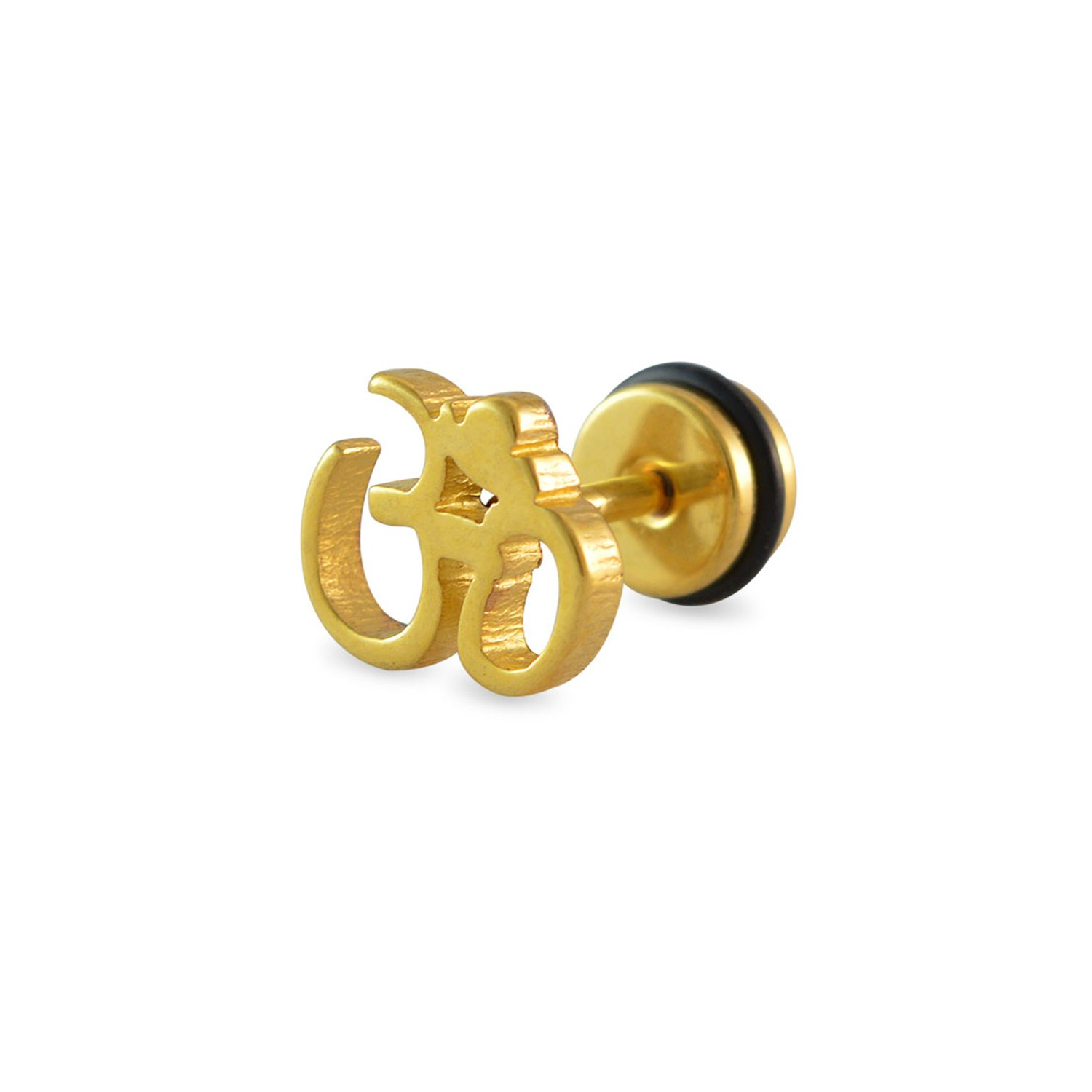 Sarah Om Gold Single Stud Earring for Men: Amazon.in: Jewellery