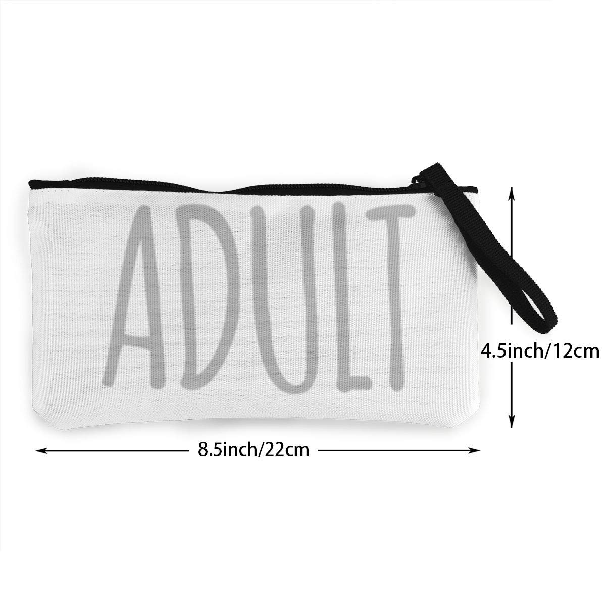 Make Up Bag DH14hjsdDEE I Cant Adult Today Zipper Canvas Coin Purse Wallet Cellphone Bag With Handle