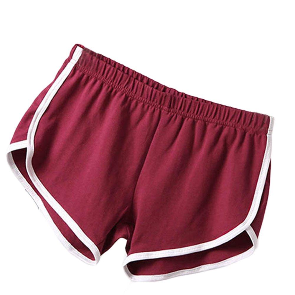 Fedi Apparel Women's Summer Sports Shorts Gym Workout Waistband Skinny Shorts Pants Plus Size