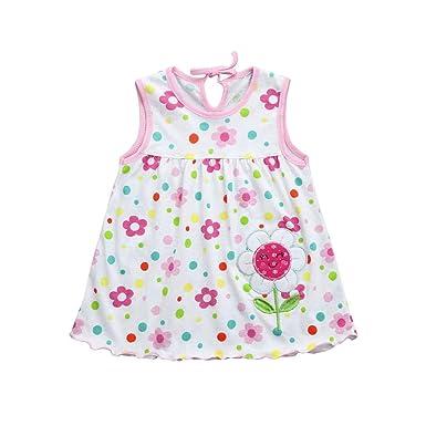285d1d8bf QUICKLYLY Ropa Bebe Recien Nacido Niña Verano de 0 a 3 Meses Sin Mangas Vestidos  Primavera