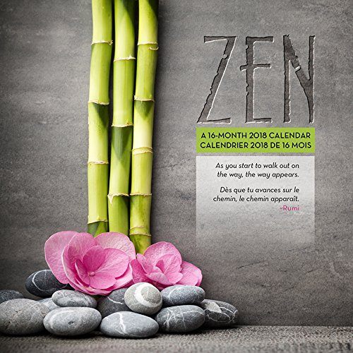 Zen/Zen 2018 Wall Calendar (English and French Edition)