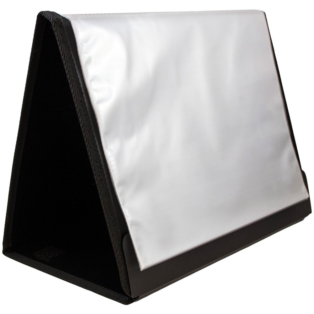 JAM Paper Easel Fold Booklet Style Display Books - 9 1/2'' x 12 1/2'' - Black - Sold Individually