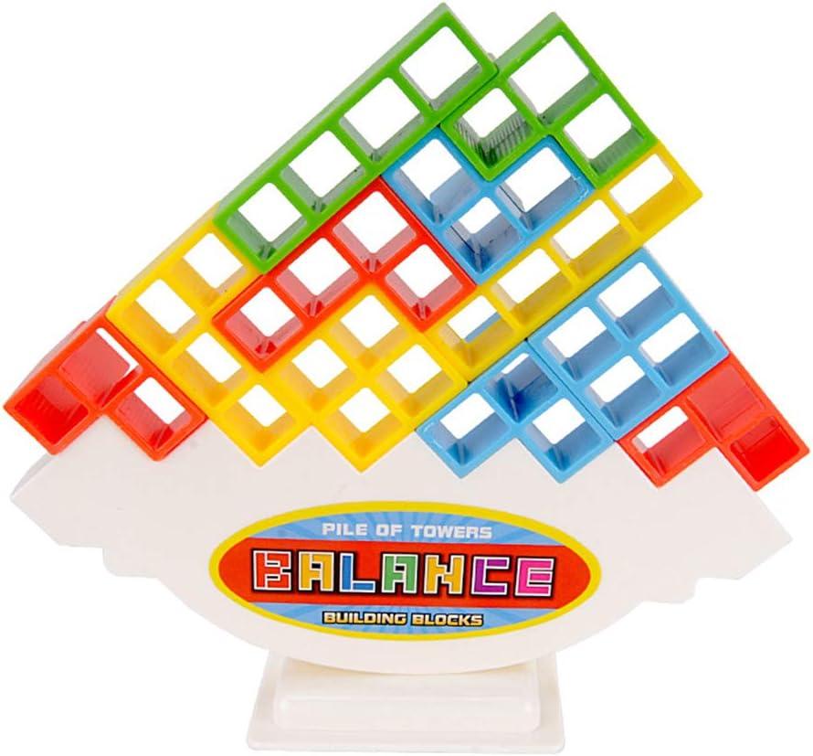 Toygogo Colorido 18 Piezas De Bloques De Tetris De Plástico Apilamiento Equilibrio Juego De Mesa Niños Inteligencia Niños Juguete Actividad De Juego: Amazon.es: Juguetes y juegos