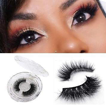 cf43fc19f59 Amazon.com: 3D Mink Fur Fake Eyelashes Natural Makeup False Eyelash Handmade  Reusable Lash 1 Pair 3D02: Beauty