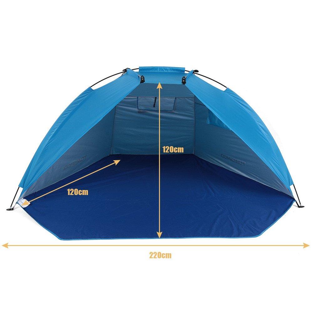 Bleu  ZXCVBW Tentes De Plage en Plein Air Abris Ombre Tente De Prougeection UV Ultralumière Tente pour La Pêche Pique-Nique Parc 2019