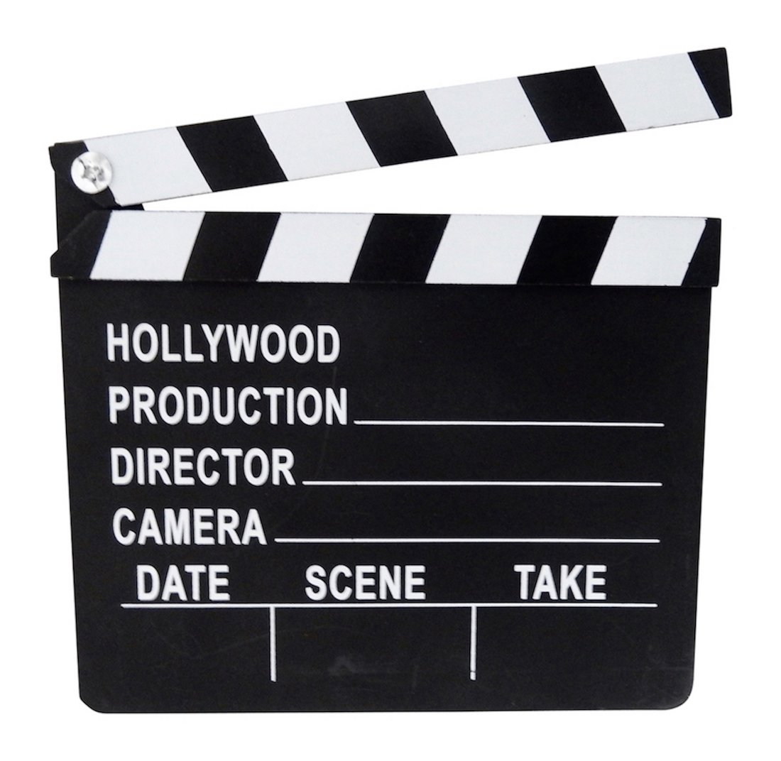1 Pack of 6 Pieces 8''x7'' Plastic Hollywood Movie Themed Clapboards Party Decoration or Prize