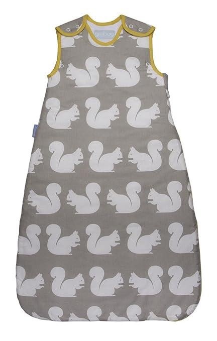 Anorak Grobag Saco de dormir para bebé con diseño de ardillas, 2,5 tog