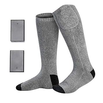 Eléctrica Calcetines Térmicos para Hombres Mujeres Con Pilas Cómodos Calcetines Térmicos Clima Frío Calcetines Térmicos Deporte