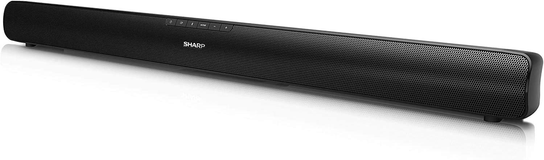 Sharp HT-SB95 2.0 Soundbar Bluetooth con HDMI ARC/CEC, Potencia Total de 40 W, 80 cm, Color Negro