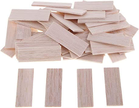 10 Pieces 150mm Fityle Rectangular Unfinished Balsa Wood Stick Wooden Dowel Rod for Kids Model Making DIY Craft Home Wedding Party Decoration