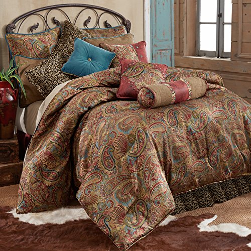 HiEnd Accents San Angelo Western Comforter Set with Leopard