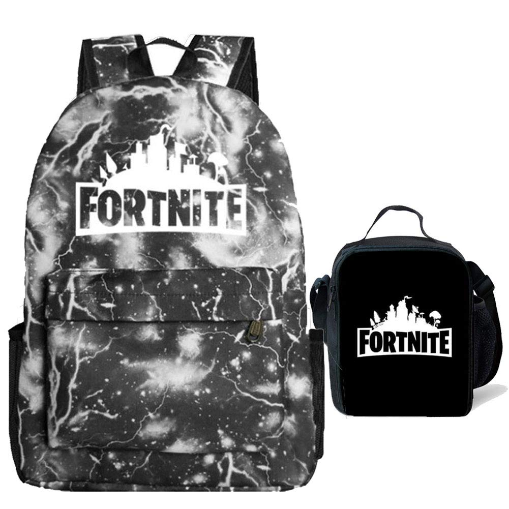 Gash Hao Fortnite Backpack Boy Lunch Box School Bookbag Insulated Mini Bag for Kids