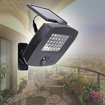 Luces Solares LED Lámpara De Pared Impermeable Luz De La Calle PI44 Solar Exterior Para Jardín Patio Terraza Inicio Camino Escalera Exterior/0.2W*30 [Clase De Eficiencia Energética A+++]: Amazon.es: Deportes y aire libre