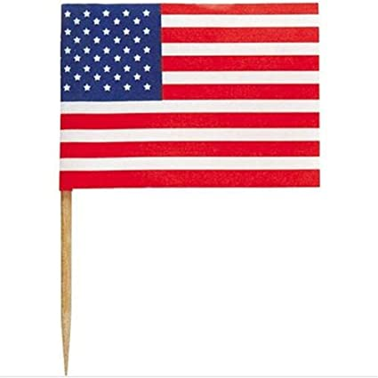 226f10849c7 Image Unavailable. Image not available for. Color  wonderfulwu American  Flag Cocktail Pick