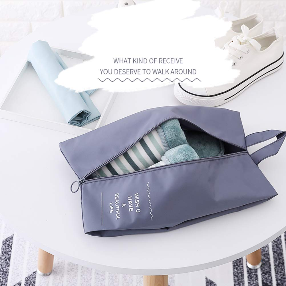 Gray TOPBATHY Waterproof Shoe Bag Transparent Travel Storage Bag Oxford Cloth Dust Cover