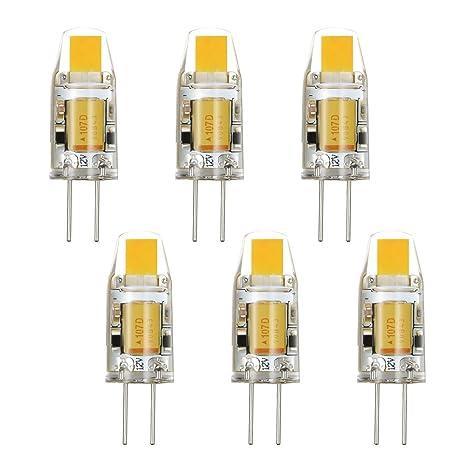 Rayhoo 6 piezas de pinchos para mazorcas de LED G4 2 W juego de luz blanca ...