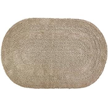 Amazoncom Moda at Home 454545 Serene Oval Bath Rug Reversible
