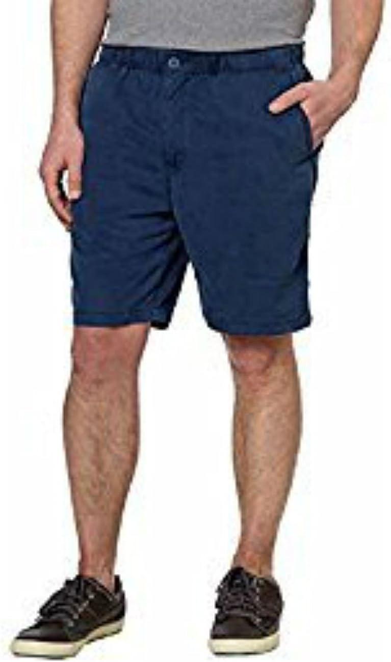 Kirkland Signature Mens Navy Blue Ribbed Tencel Shorts Navy Blue Medium