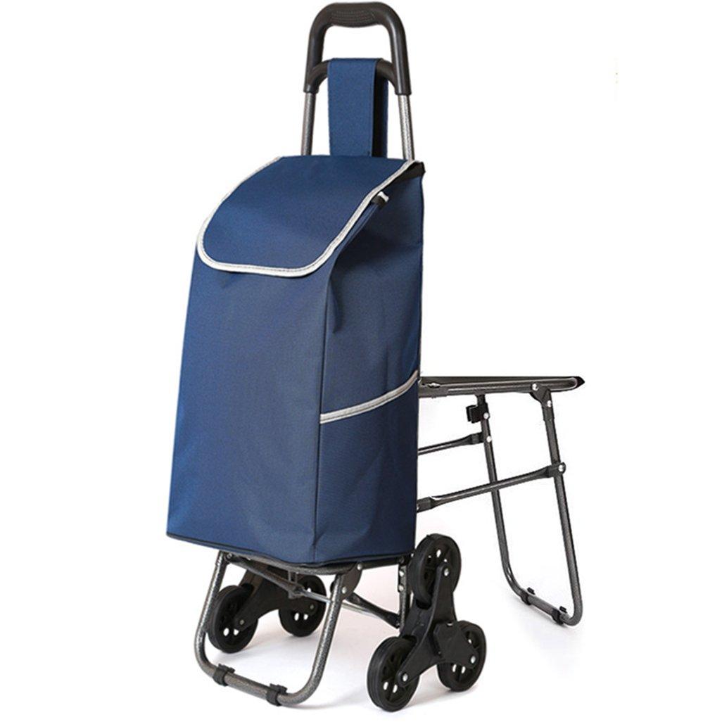 JJJJD 椅子を使用して、ショッピングカート、古いショッピングカート、小型カート、トロリー、折り畳み式トロリー、ポータブルフルアイアン接続 B07RS5JDLH