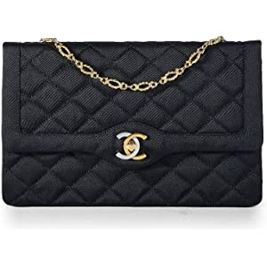 743b0f8b1bca CHANEL Limited Edition Black Quilted Satin Two-Tone Logo Paris Edition Flap  Bag (Pre
