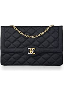 4dc23c1ac1 CHANEL Limited Edition Black Quilted Satin Two-Tone Logo Paris Edition Flap  Bag (Pre