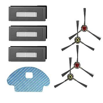 Amoy Kit de Accesorios Reemplazo Compatible con Ecovacs Deebot OZMO 930 aspiradora robótica