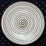 和雑貨 和食器 福岡県伝統工芸品 小石原焼 【蔵人窯】 手作り 皿 飛びかんな(14cm)