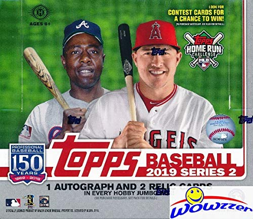 2019 Topps Series 2 MLB Baseball ENORMOUS HTA HOBBY Factory Sealed JUMBO Box with 460 Cards & THREE(3) AUTOGRAPH or RELIC Cards! Absolutely Loaded with ROOKIES, AWESOME INSERTS & PARALLELS! ()