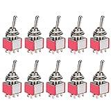 DIYhz Toggle Switch AC 5A/125V 3A/250V 6 Pin