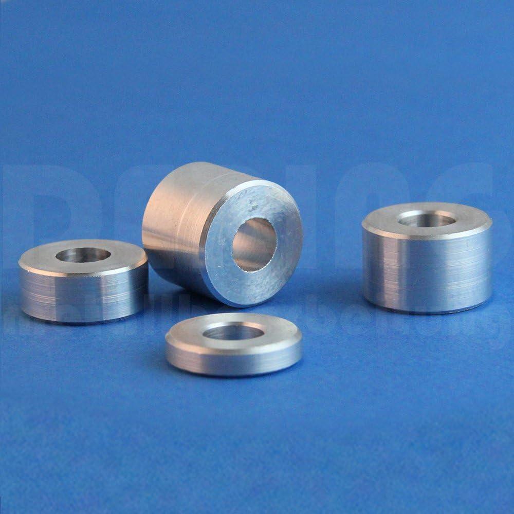 24 x 12,5 mm Lot de 5 douilles entretoises en aluminium Pour M12
