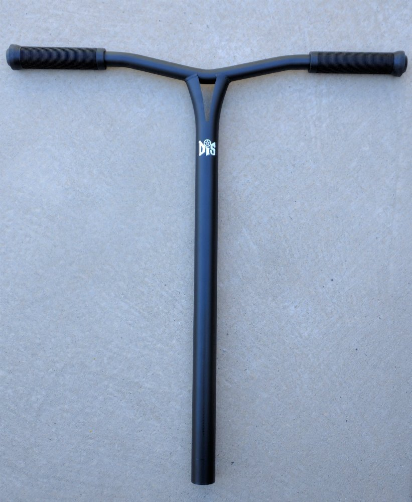 DropIn Scooters DIS chromoly steel 25 inch custom oversized bars for HIC - flat black steel finish