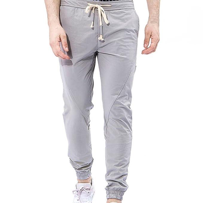 MOVERV Pantalones de Casual Pantalones para Hombre, Pantalones de ...
