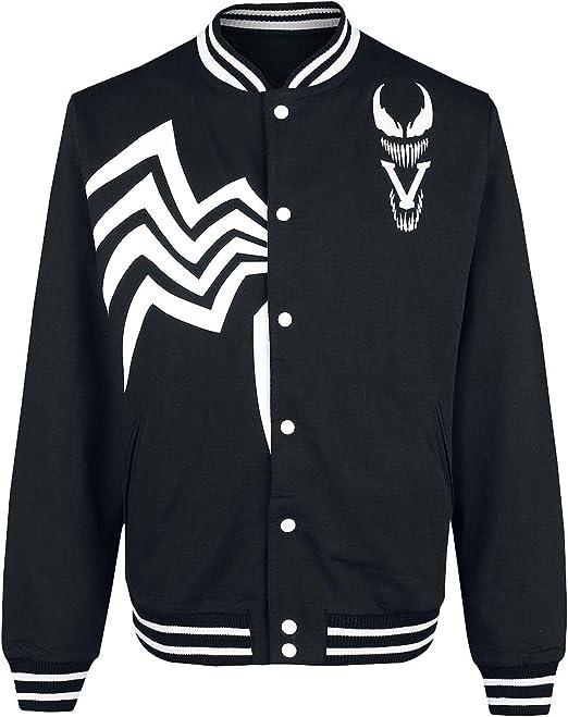 Venom (Marvel) Logo Chaqueta Universitaria Negro-Blanco ...