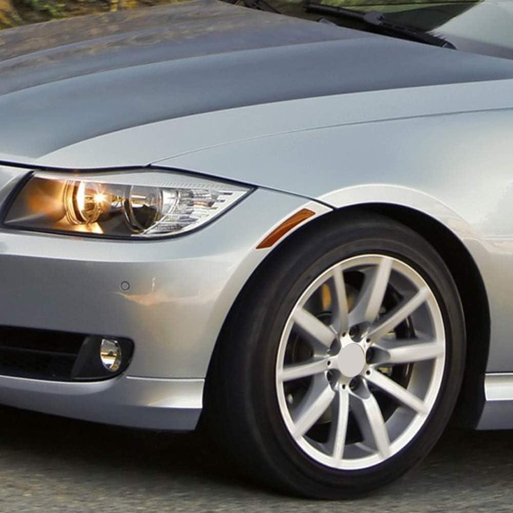 GSRECY 2pcs for BMW E90 E91 3 Series 4DR 2009-2011 LCI Front Side Marke Fender Bumper Reflector Smoke Lens