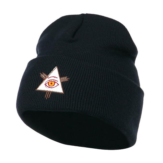 f6b879e110c Amazon.com  E4hats All Seeing Eye Embroidered Beanie - Navy OSFM ...