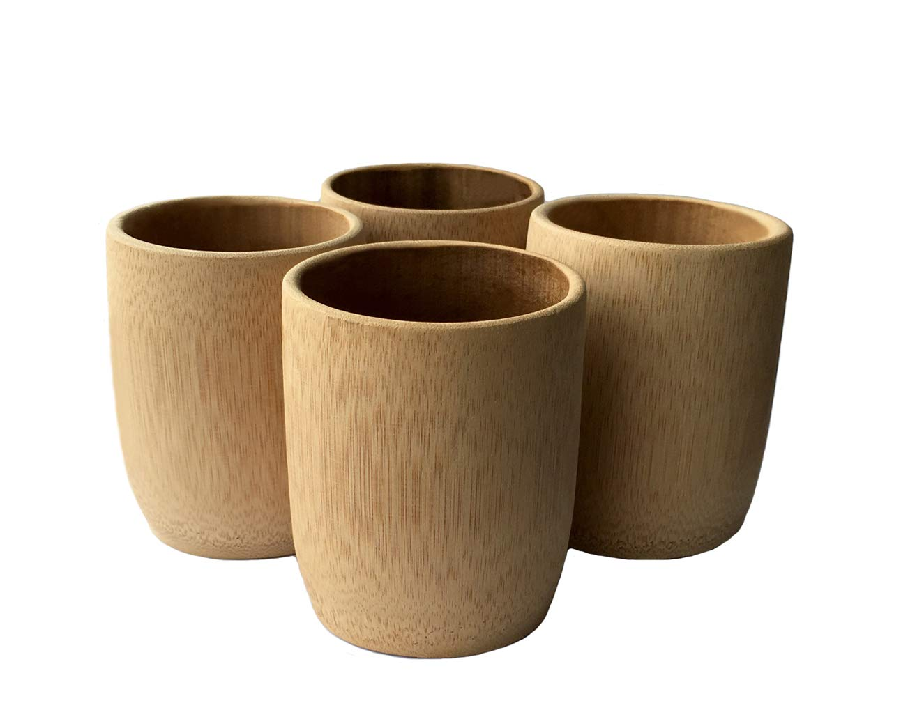 KCHAIN 4pcs Drinking Cups for Sake Coffee Tea (Bamboo cups)