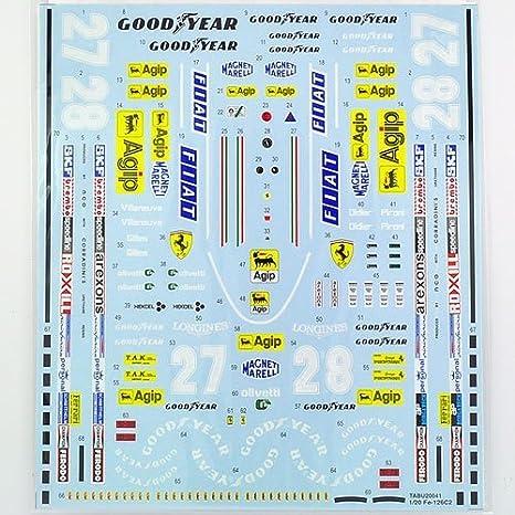 TABU DESIGN / tab design 1/20 Ferrari 126C2 Full Sponsor Decal by ...