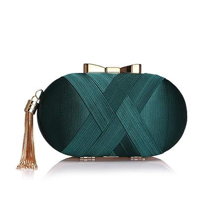 4c8b3afc3 Clutch Evening Bag Women Wedding Handbag Pleated Clutch Purse Envelope  Clutches (Color : Green): Amazon.ca: Home & Kitchen