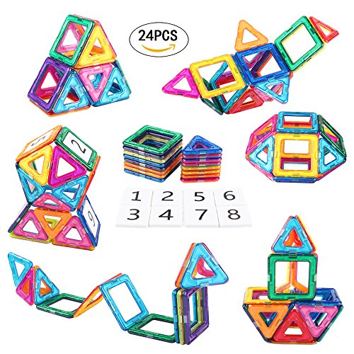 New AMOSTING Magnetic Building Blocks Present Package Toy Tiles Bricks Kit … for cheap